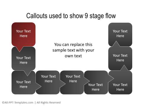 PowerPoint Creative Process Flow 19