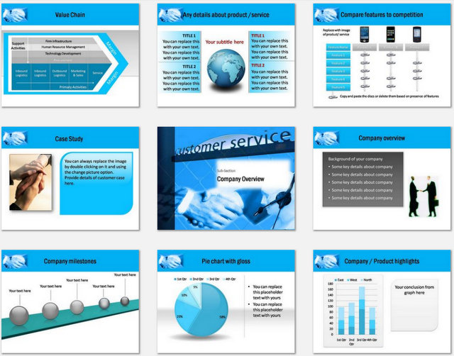 PowerPoint Customer Service Charts 02