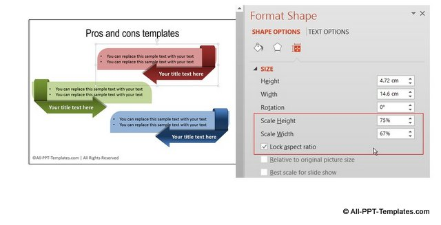 PowerPoint Design Habit resizing shapes