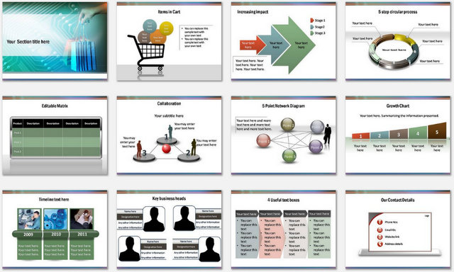PowerPoint Ecommerce Charts 2