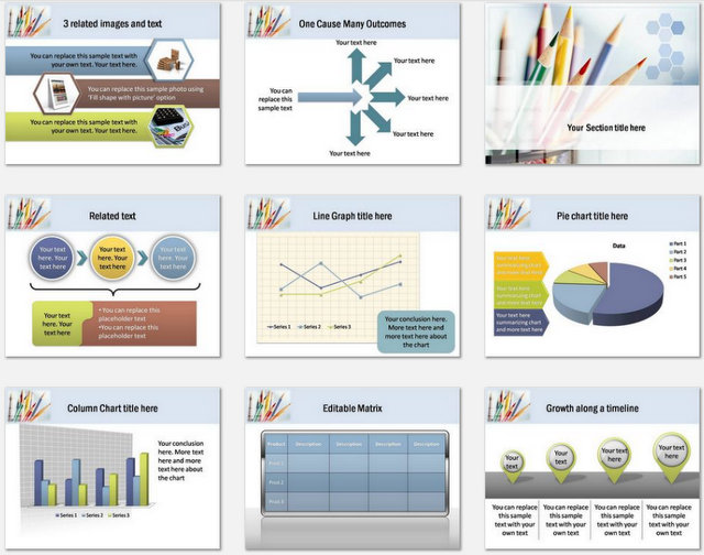 PowerPoint Education themes sets 2
