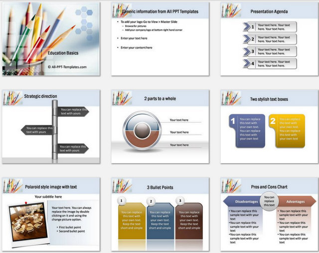 PowerPoint Education themes sets 1