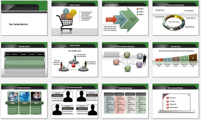 PowerPoint Email Marketing Charts 2