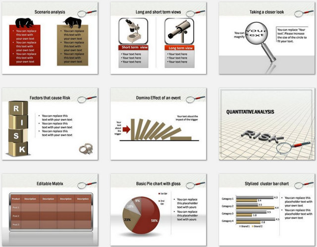 PowerPoint Evaluating Risk Charts 2