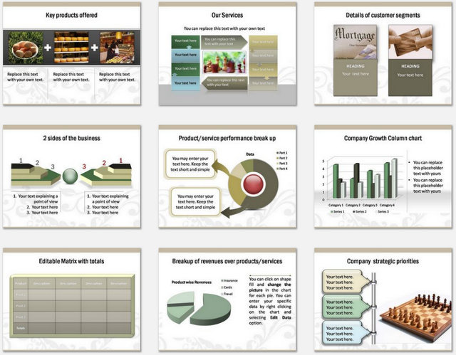 PowerPoint Floral Business Introduction Charts 2