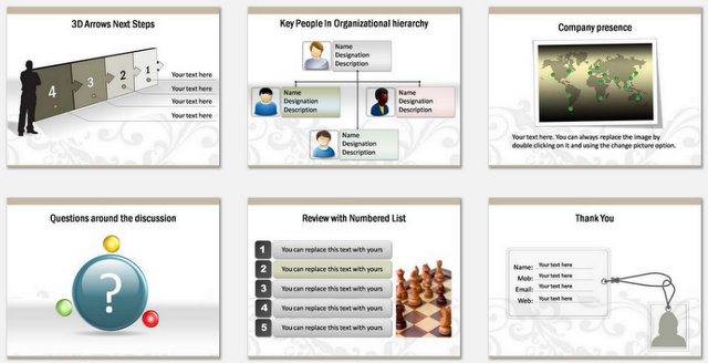 PowerPoint Floral Business Introduction Charts 3