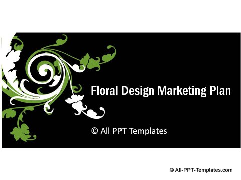Floral Design Title slide