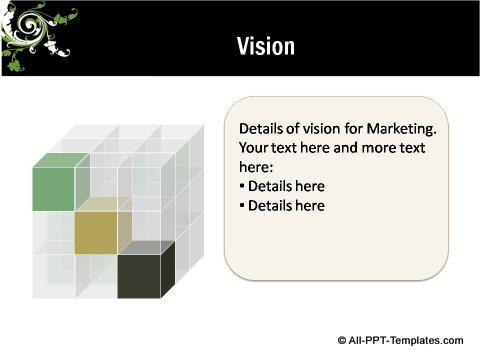 Floral Design Cube Vision Slide