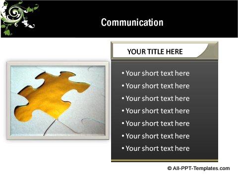 Floral Design Communication text boxes