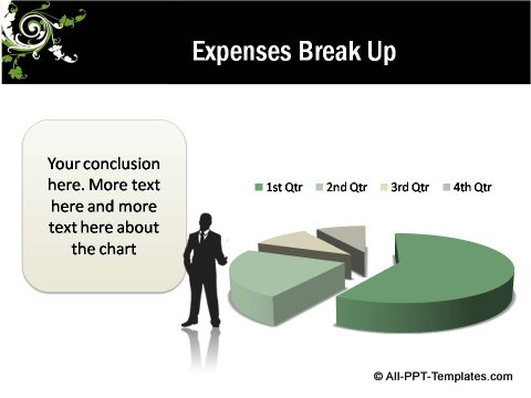 Floral Design Expenses Data Driven Pie chart