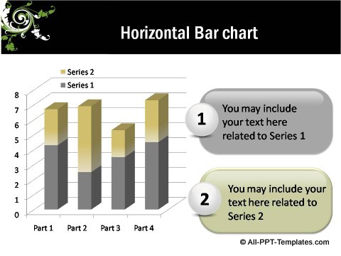 Floral Design Horizontal Bar Chart