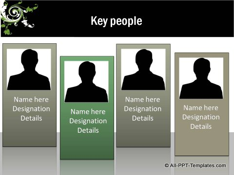 Floral Design Key People Org Chart