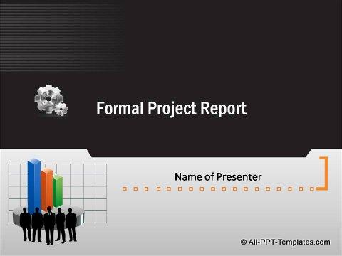 Pptx Formal Report Title Slide