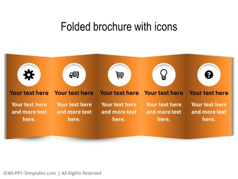 Folded brochure style graphic
