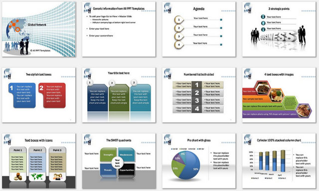 Powerpoint global network template powerpoint global network charts 1 toneelgroepblik