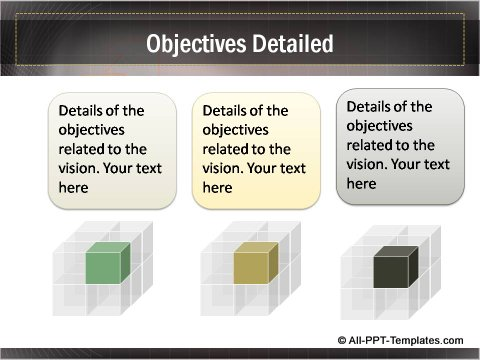 Business Growth Detailed Objectives slide