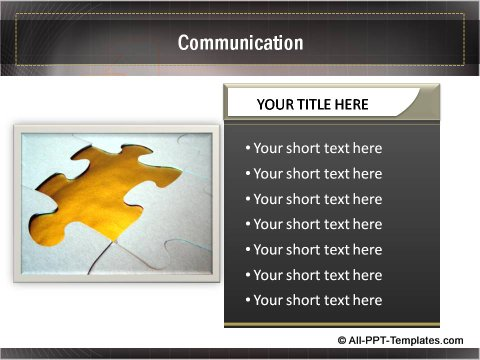 Business Growth Communication text boxes