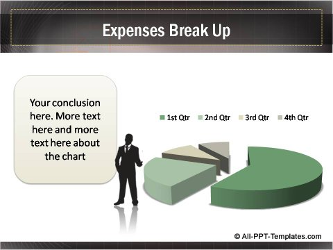 Business Growth Expenses Data Driven Pie chart