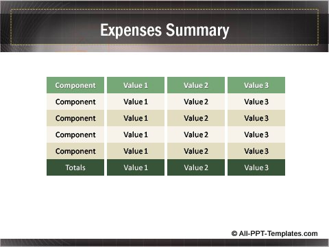 Business Growth Editable Matrix showing summary