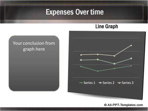 Business Growth Line Graph showing expenses