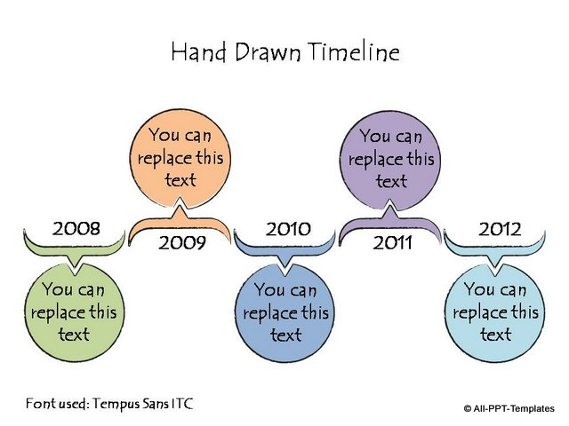 Hand Drawn Timeline Colorful