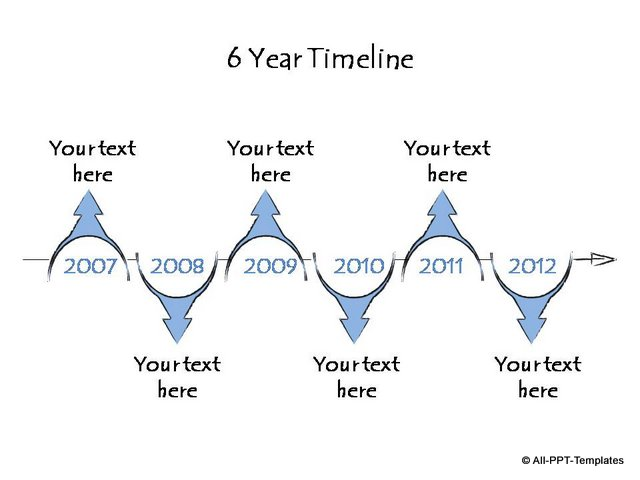 6 year curved arrow timeline