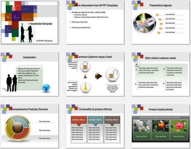 PowerPoint Handshake Charts 01