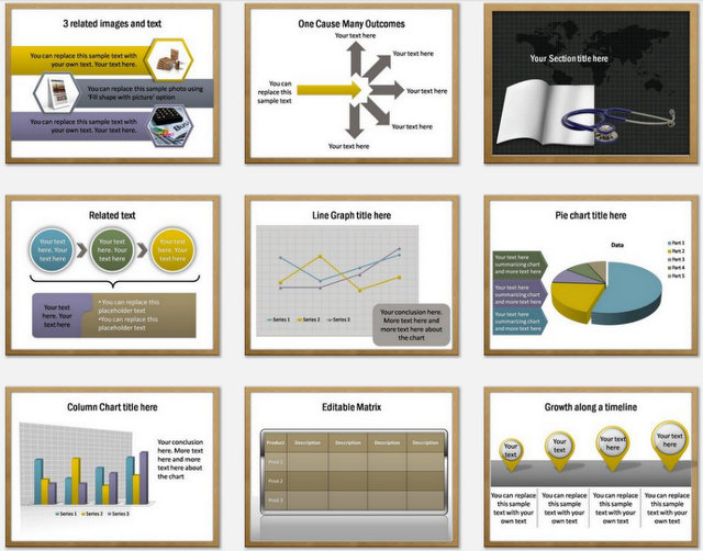 Health Education Pptx Charts 2