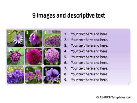 9 images thumbnails with descriptive text