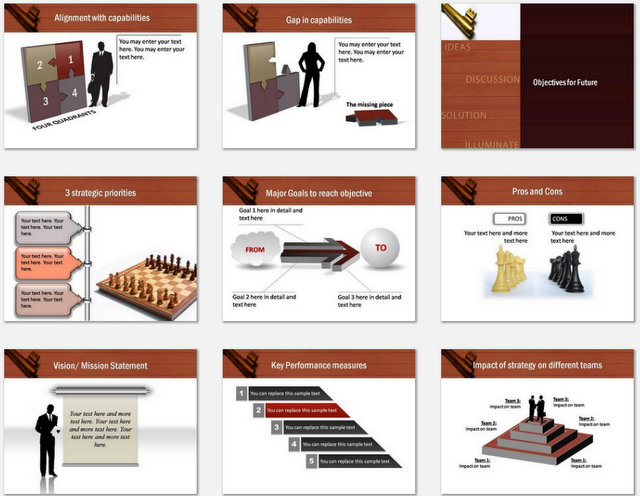 PowerPoint Key Business Idea Charts 02