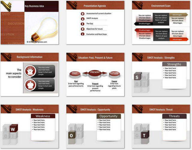 PowerPoint Key Business Idea Charts 01