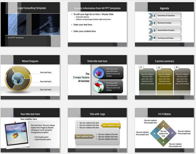 PowerPoint Legal ConsultingCharts 1