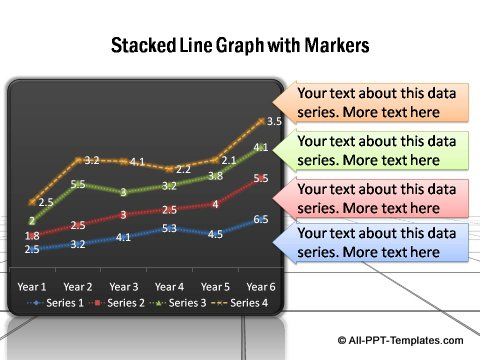 PowerPoint line graph 06