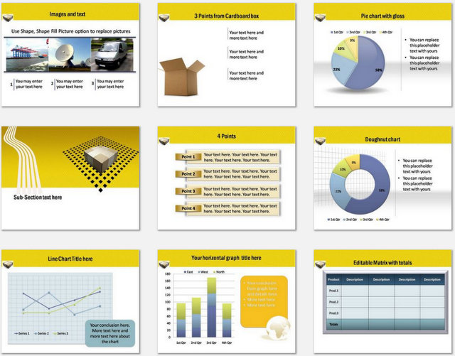 PowerPoint Logistics Delivery Charts 02