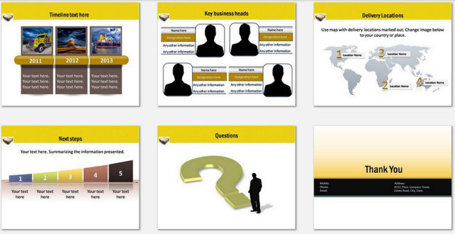 PowerPoint Logistics Delivery Charts 03