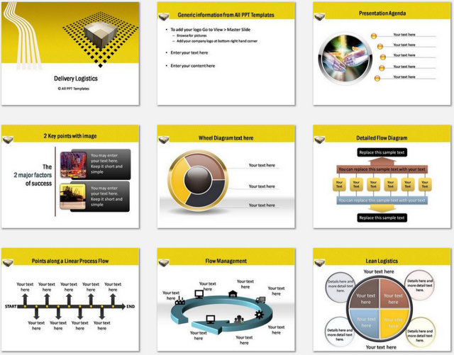 PowerPoint Logistics Delivery Charts 01