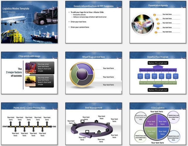 PowerPoint Logistics Modes Charts 01