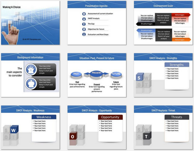 PowerPoint Making Choice Charts 01