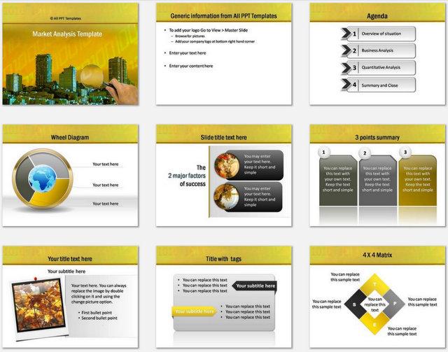PowerPoint Market Analysis Charts 1
