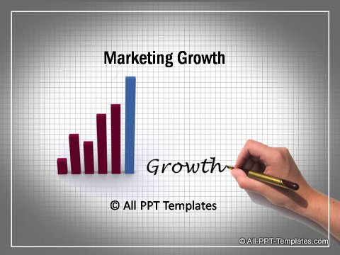 powerpoint market growth template, Modern powerpoint