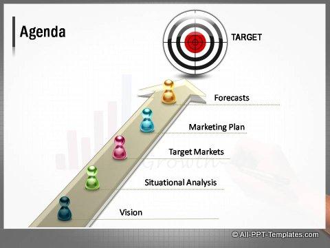 Market Growth 3D Target Agenda Slide