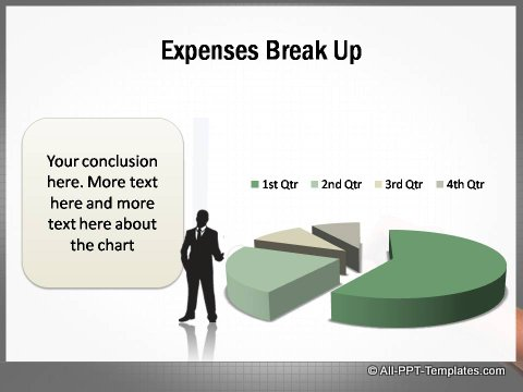 Market Growth Expenses Data Driven Pie chart