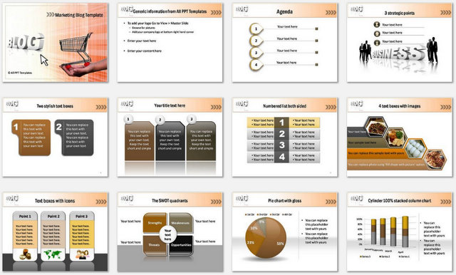 PowerPoint Marketing Blog Charts 1
