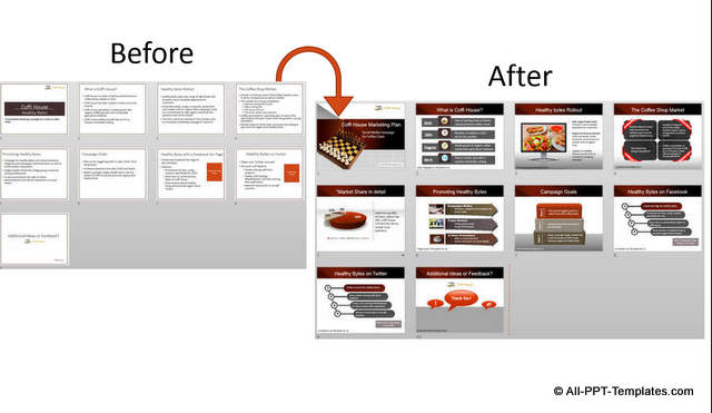 Powerpoint Marketing Presentation : Design Makeover Example