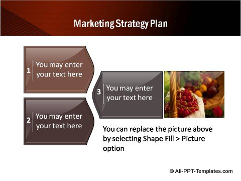 3 Creative boxes for Marketing Strategy Plan