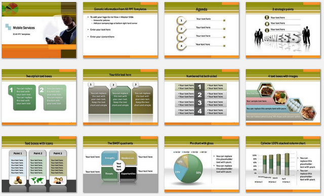 PowerPoint Mobile Services  Charts 1