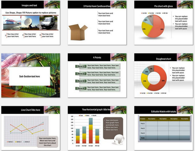PowerPoint On Time Logistics Charts 02