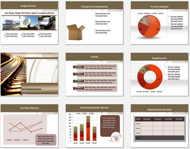 PowerPoint On Track  Charts 02