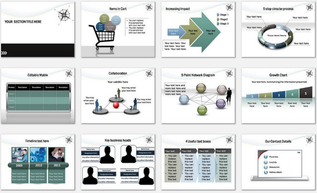 PowerPoint Online Marketing Charts 2