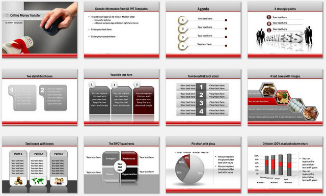 PowerPoint Online Money  Charts 1